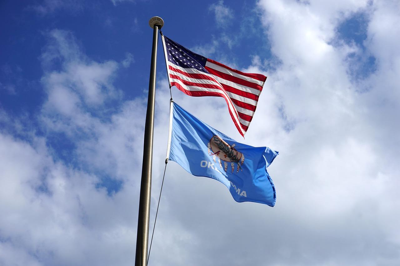 Oklahoma State Flag Banner Usa  - RJA1988 / Pixabay